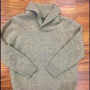 Men's Eddie Bauer lambs wool shawl sweater